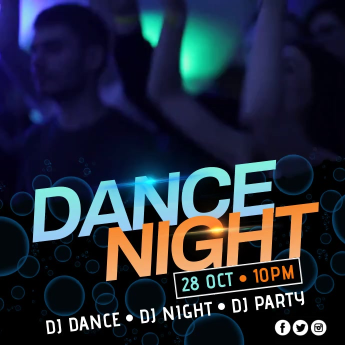 Dance Night Video & Audio Poster template