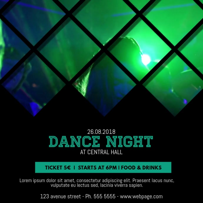 Dance Night Video Template for instagram