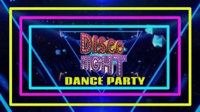 Dance Party background Digitalt display (16:9) template
