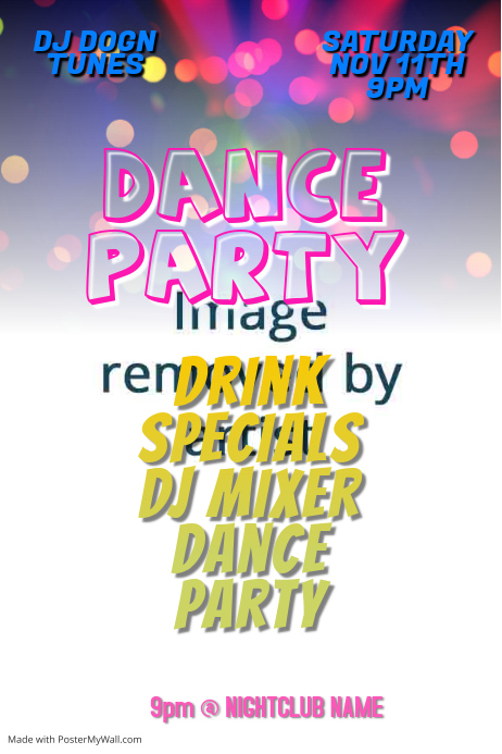 Dance Party Club DJ Poster Template