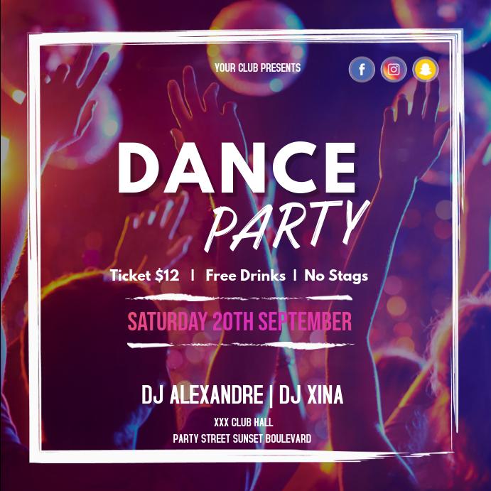 Dance party club instagram
