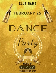 Dance Party Flyer (US Letter) template
