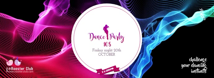 Dance party Facebook Cover Photo template