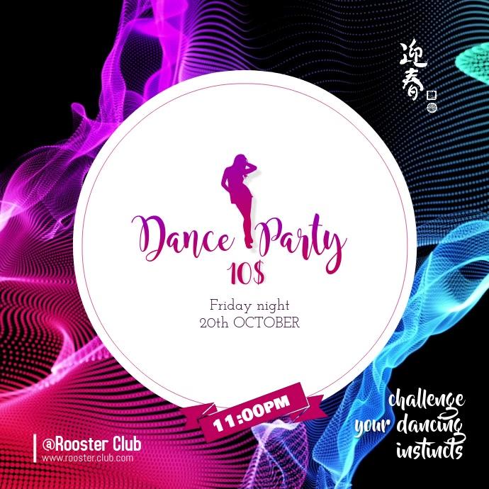 Dance party Instagram-bericht template