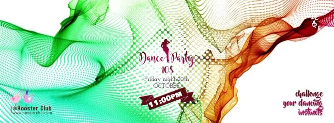 Dance party Фотография обложки профиля Facebook template
