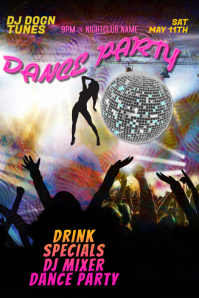 Dance Party DJ Club Poster Template