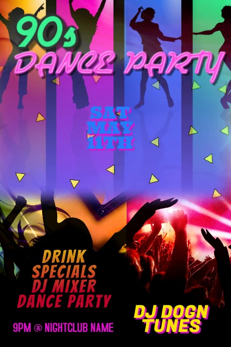 Dance Party DJ Club Poster Video Template