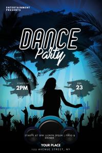Dance Party flyer template Plakat