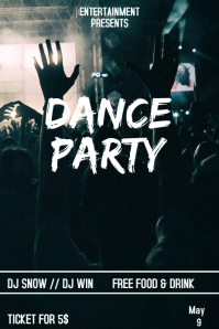 Dance party flyer template