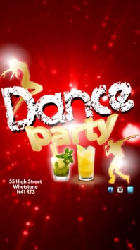 Dance Party Instagram Display digitale (9:16) template