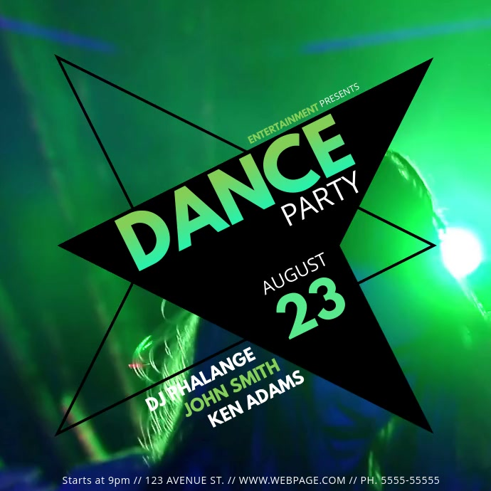 Dance Party Night club event video advertising template