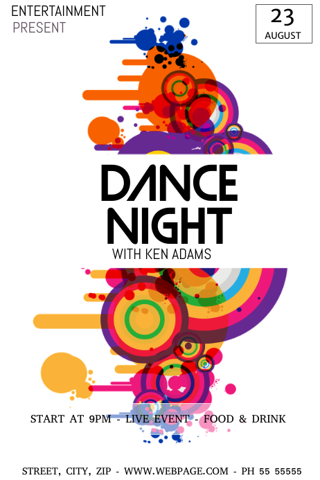 Dance party night flyer template Plakkaat