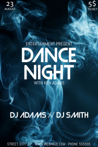 Dance party night flyer template