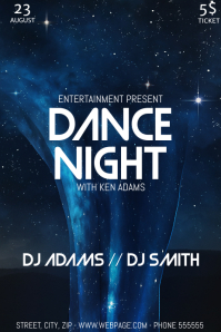Dance party night flyer template Plakat