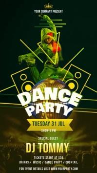 Dance Party Portrait Digital Display Video