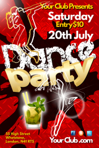 Dance Party Poster Plakat template