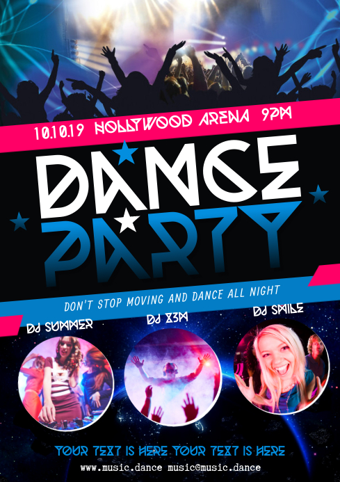 DANCE PARTY POSTER A4 template