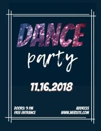 Dance Party Purple Glitter Flyer