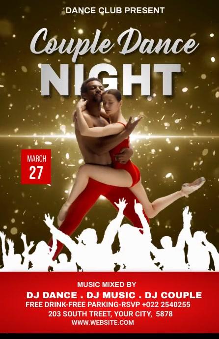 Dance Party Template Kalahating pahina na Wide