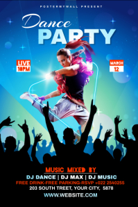 Dance Party Template Banner 4' × 6'
