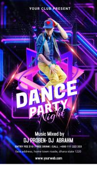 Dance Party Template Digitalt display (9:16)