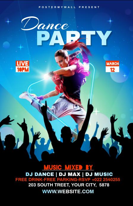 Dance Party Template Tabloid