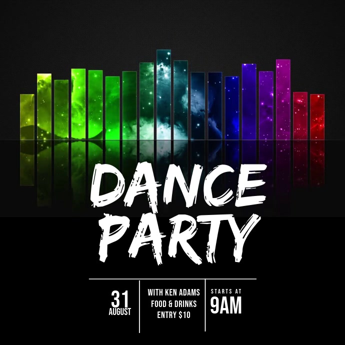 Dance Party Video Ad Template Vierkant (1:1)
