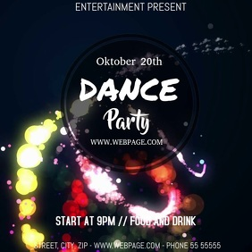 dance party video flyer template