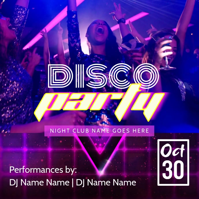Dance Party Video Template  Club Flyer Background