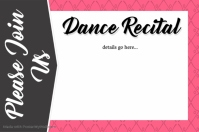 Dance Recital Invitation Program Small Business Retail Flyer