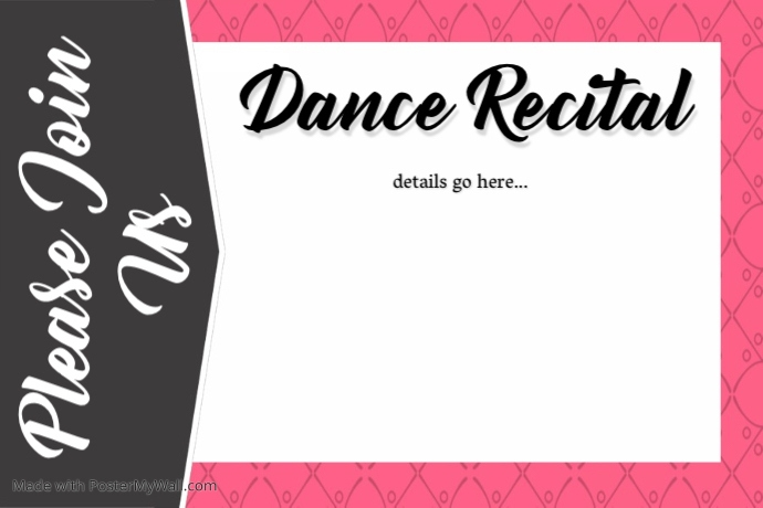 Dance Recital Invitation Program Small Business Retail Flyer