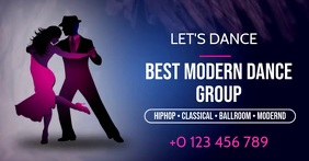 DANCE SCHOOL AD SOCIAL MEDIA TEMPLATE delt Facebook-billede