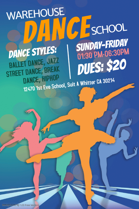 Dance School Poster Template