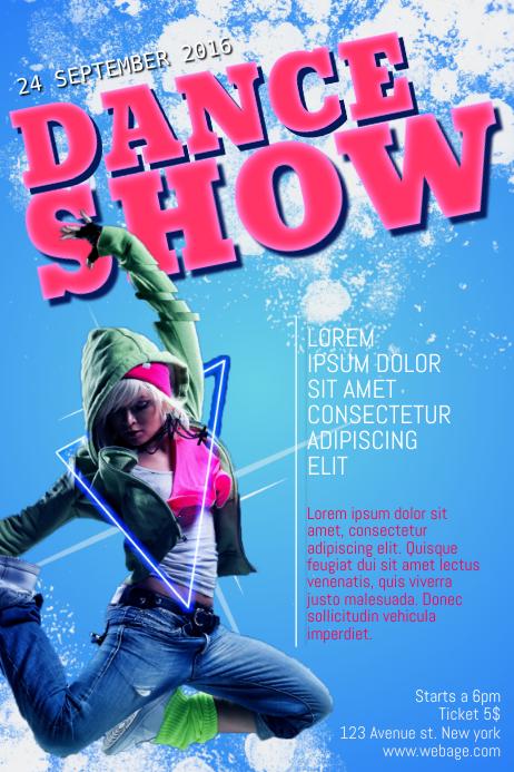 Dance Show Flyer Template