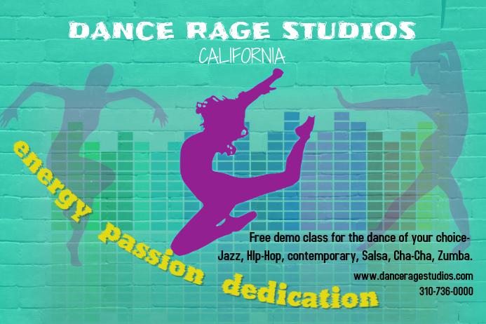 dance studio class poster