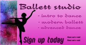Dance studio image auf Facebook geteiltes Bild template