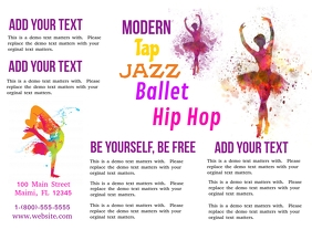 Dance Studio Tri-Fold