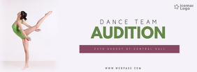 Dance team Audition Facebook cover template