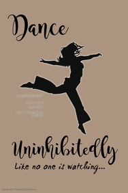 Dance Uninhibitedly Poster Template