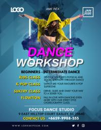 Dance Workshop Classes School Workshop Flyer