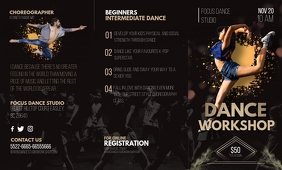 Dance Workshop Informational Trifold Brochure US Legal template