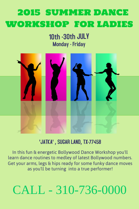 Dance Workshop Poster  Flyer Template  Postermywall