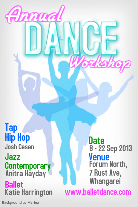 dance workshop poster template