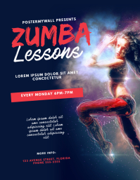Dance Zumba Aerobics Lessons Flyer