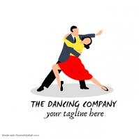Dancing company logo template
