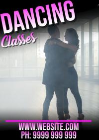 dancing A5 template