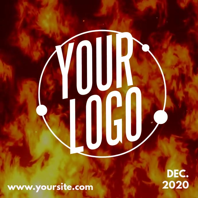 Dancing Fire Logo Branding Instagram na Post template
