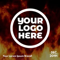 Dancing Fire Logo Instagram Post template