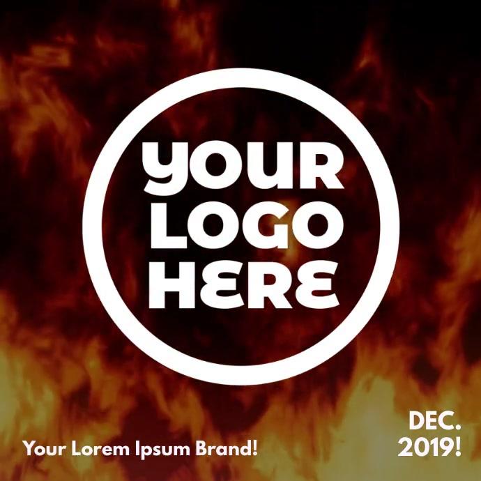 Dancing Fire Logo Publicación de Instagram template
