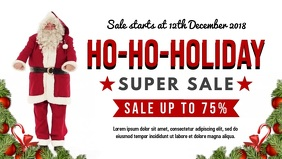 Dancing Santa Christmas Retail Facebook Banner